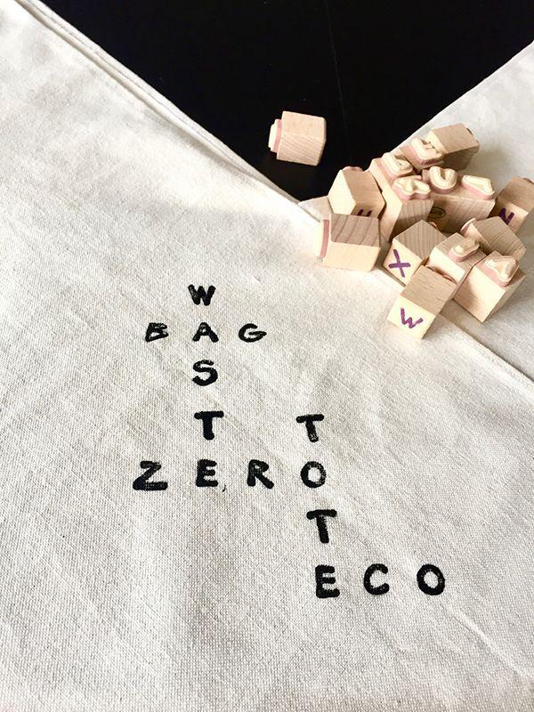 Sellos letras bolsa zero waste