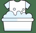 Lava la ropa cuando sea necesario