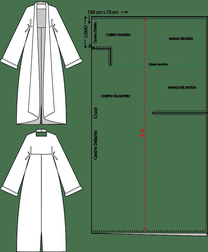 Patrón abrigo zero waste