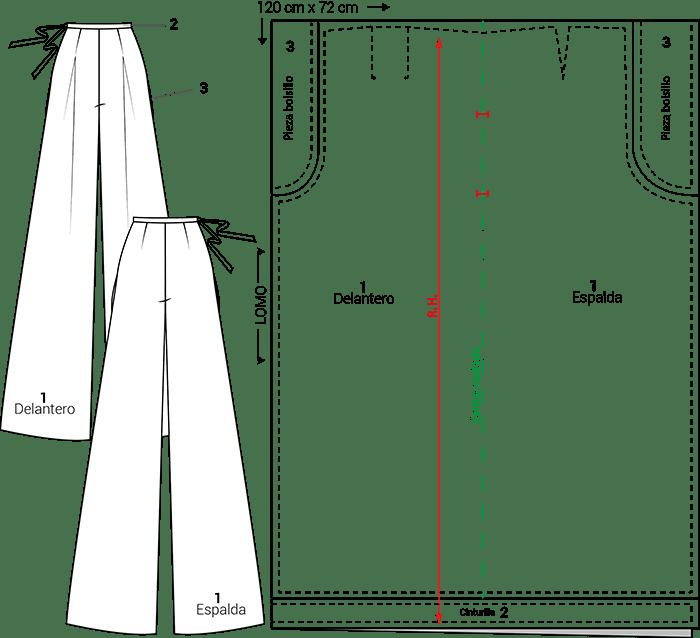 Pantalón zero waste
