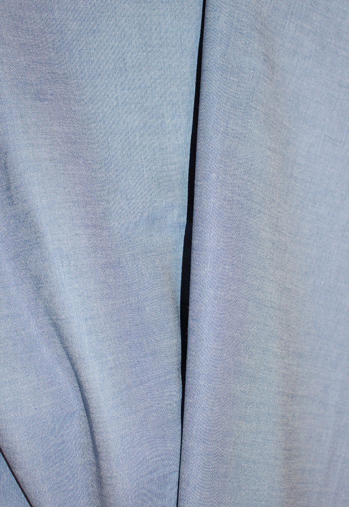 c214843c8 Popelín de algodón orgánico aspecto Denim